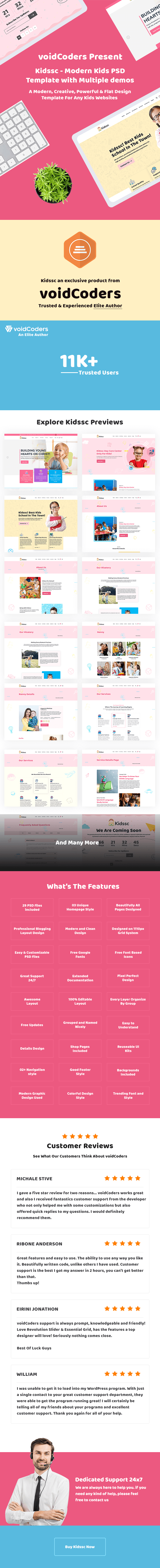 kids school template