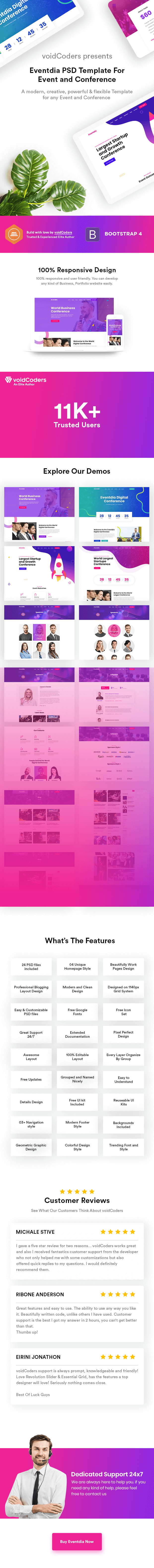 Eventdia - Event and Conference PSD Template - 1