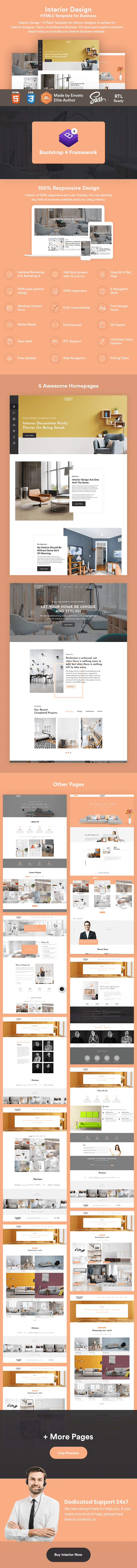 Interior Design - HTML5 Template for Business - 2