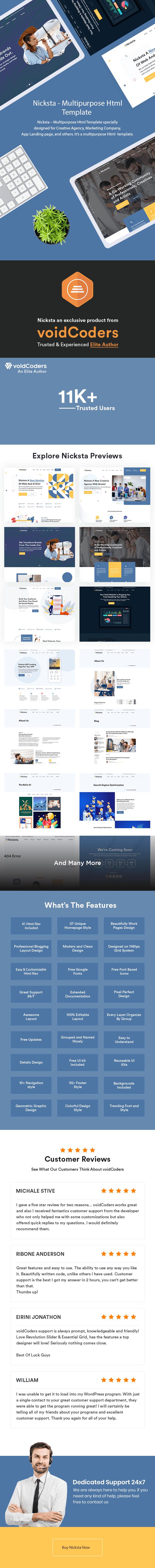 Nicksta - Multipurpose HTML5 Template - 1
