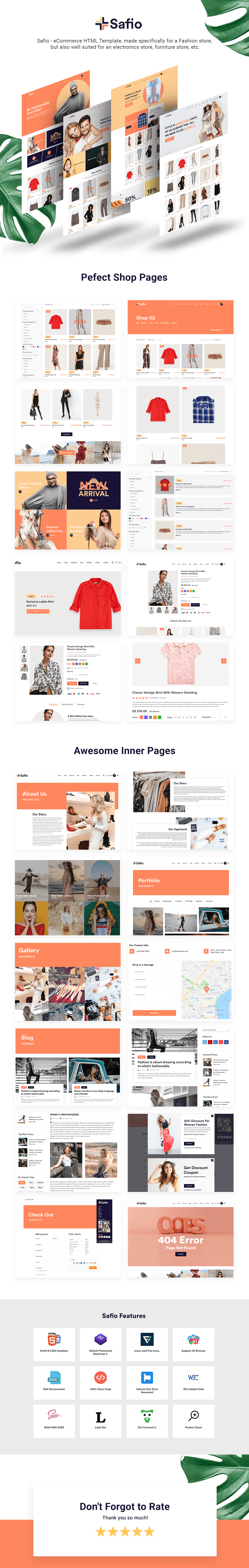 Safio - ECommerce & Online Businesses HTML5 Template - 1