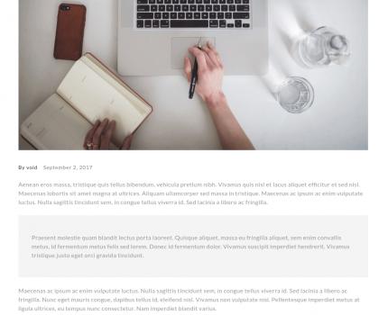 single blog -no sidebar